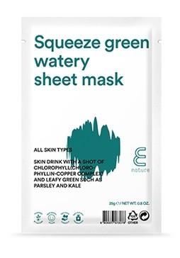 Enature Squeeze Green Waery Sheet Mask